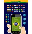 Brazil soccer championship phone infographic vector