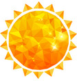 Polygonal sun background vector