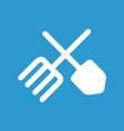 Farm icon white on the blue background vector