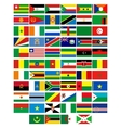Flags of the countries of africa vector