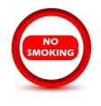 Red no smoking icon vector