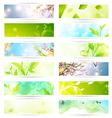 Eco banner set vector