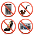 Prohibitory sign icons vector