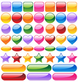 Set of colorful website buttons vector