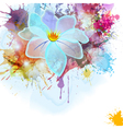 Abstract background in grunge style with flower vector