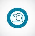 Photo camera icon bold blue circle border vector