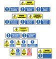 Hazardous material signs vector