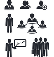 Collection of businessmen silhouettes vector