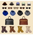 Hipster accessories man vector