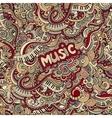 Doodles music seamless pattern vector