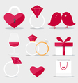 Happy valentines day flat style icon vector