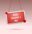 Valentines wishes on red the tag vector