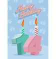14 years celebration 14nd happy birthday vector