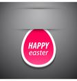 Happy easter pink tag vector