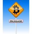 Bitcoin traffic board vector