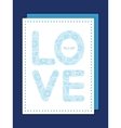Doodle circle water texture love text frame vector