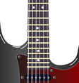 Black electric guitar on a white background vector