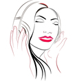 Women listioning music vector