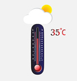 Hot thermometer vector