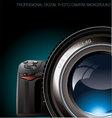 Professional digital photo camera background vector