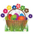 Eggs in the basket vector