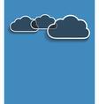 Grey clouds vector
