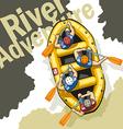 River adventure vector