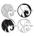 Elephant set vector