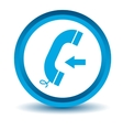 Blue incoming call icon vector