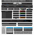 Web design elements set black vector