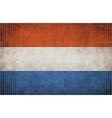 Mosaic flag of nederlands vector