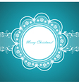 Lace round frame with congratulation vector