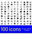 Icons business office finance vector