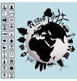 Ecological concept with earth and environment vector