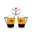 V coffee cup vector