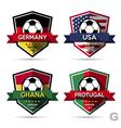 Set of soccer football badge vector
