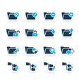 Folders icons 1 azure series vector