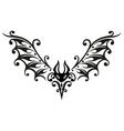 Halloween bat tribal vector