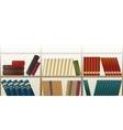 Retro bookshelf pattern vector
