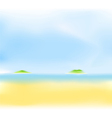 Summer sea island vector