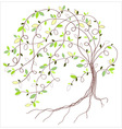 Stylized green tree vector