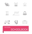 Schoolbook icon set vector