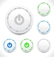 Abstract led power button vector