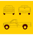 Pick-up truck line vector