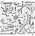 Arrows doodles vector
