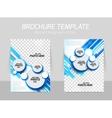 Blue brochure with circles vector