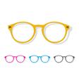 Image of glasses orange vector