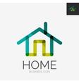 Minimal line design logo home icon vector