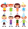 Cartoon girls and boys vector
