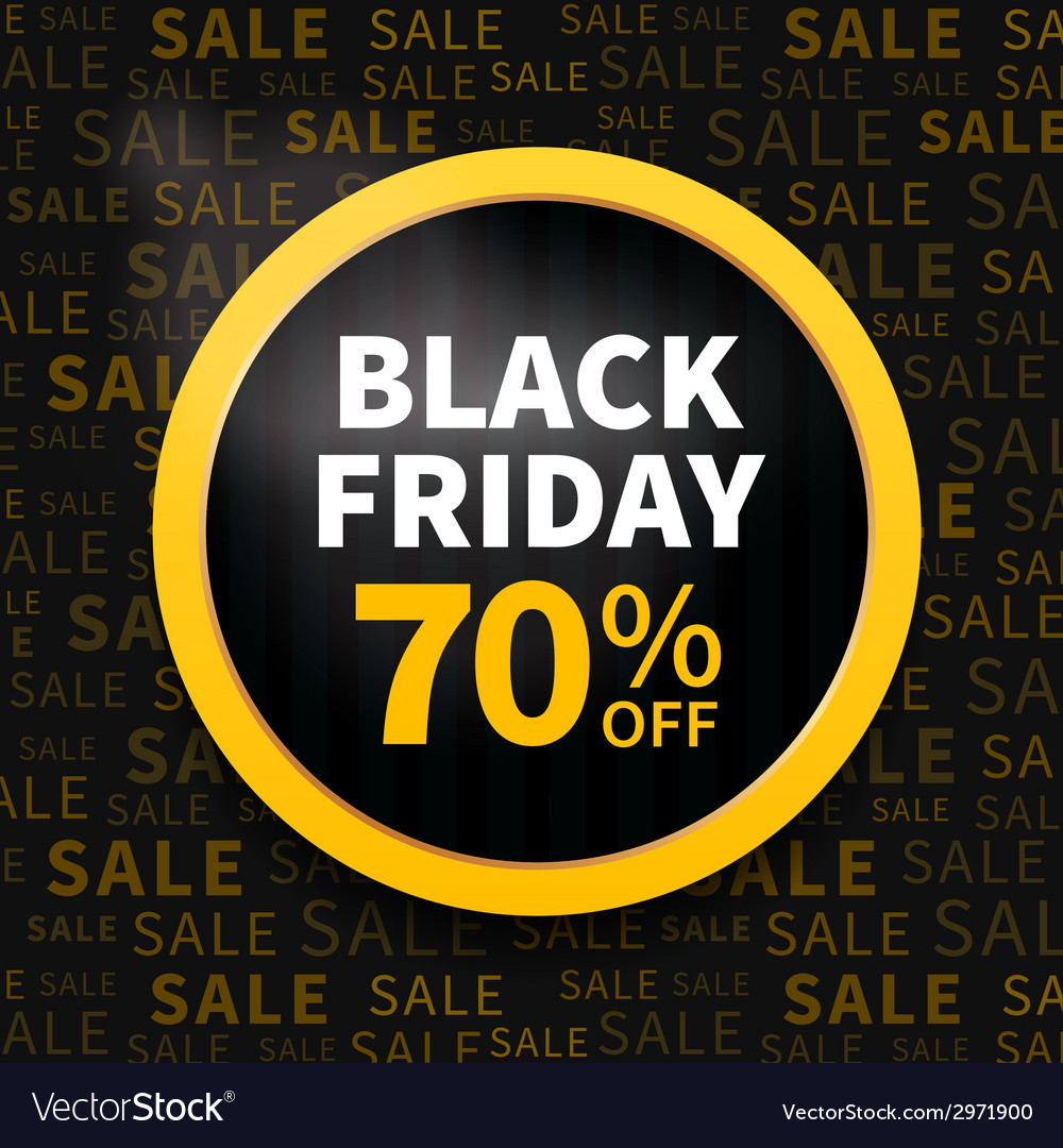 Black friday label vector | Price: 1 Credit (USD $1)